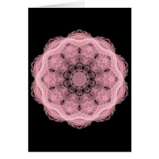 Cordón rosado tarjeta