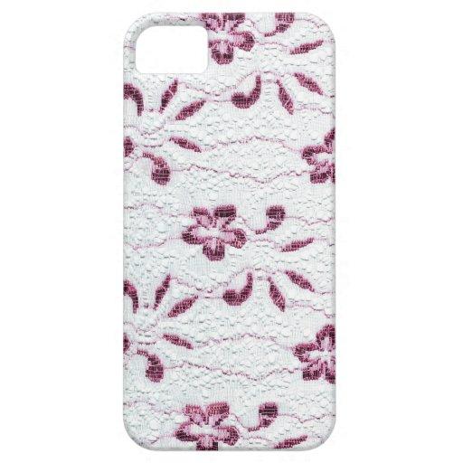 Cordón rosado y blanco iPhone 5 Case-Mate protectores