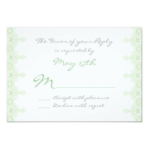 Cordón sabio de la verde menta elegante que casa comunicado personalizado