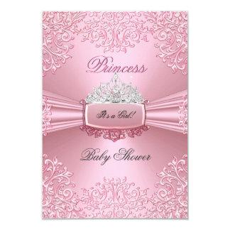 """Cordón SML de princesa Tiara del rosa del chica de Invitación 3.5"""" X 5"""""""