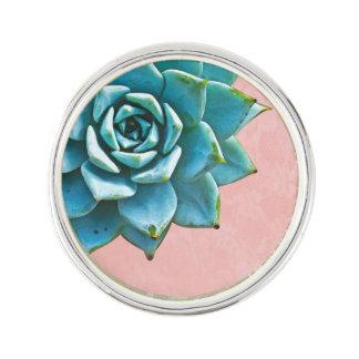 Cordón suculento del rosa de la acuarela pin