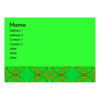 cordón verde rojo tarjetas de visita