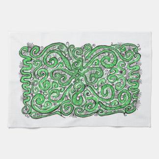 cordón verde toallas