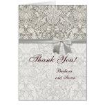 Cordón viejo del boda blanco del vintage del damas tarjetas