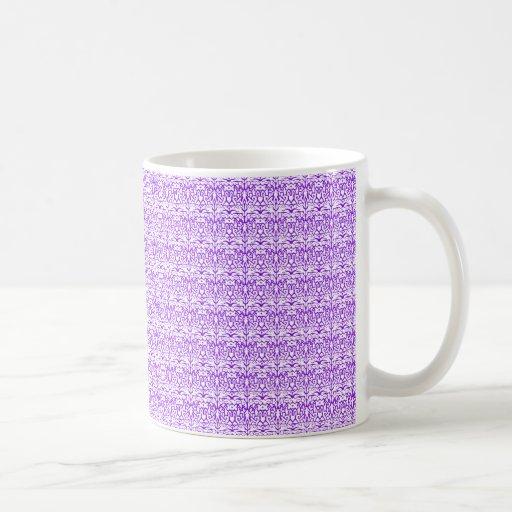 Cordón violeta tazas de café