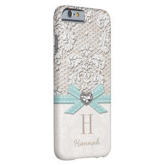 Cordón y arco impresos corazón de la mirada del funda barely there iPhone 6