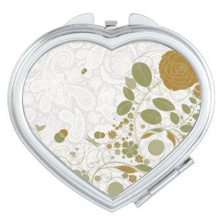 Cordón y flores retras 6 de Paisley - espejo compa