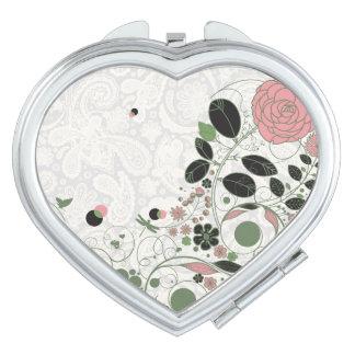 Cordón y flores retras 7 de Paisley - espejo compa Espejos Compactos