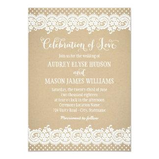 Cordón y Kraft de la invitación el | del boda