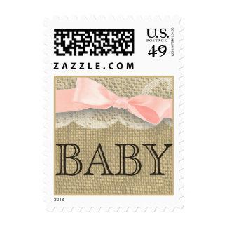 Cordón y niña del vintage sello