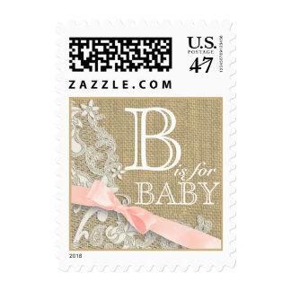 Cordón y niña del vintage timbres postales