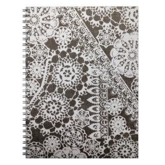 Cordón y tapetitos del vintage cuadernos