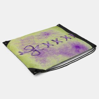 Cordones de zapato púrpuras mochilas