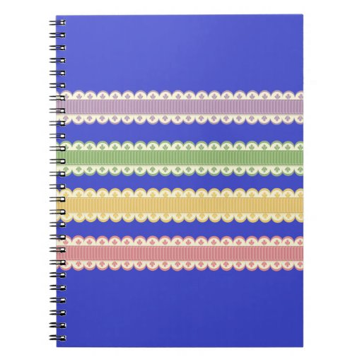 Cordones decorativos libro de apuntes con espiral