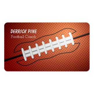 Cordones del fútbol tarjetas de visita