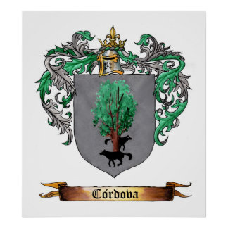 Cordova Shield of Arms Poster