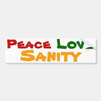 Cordura del amor de la paz pegatina para auto