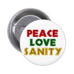 Cordura del amor de la paz pin
