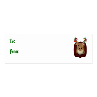Corduroy Moose Gift Tags Mini Business Card