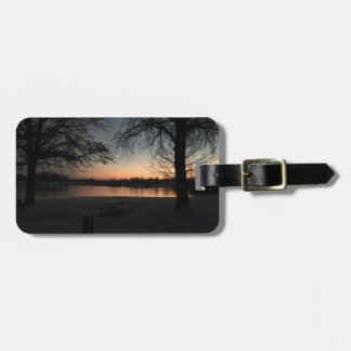 Core Creek Park Winter  Sunset Luggage Tag