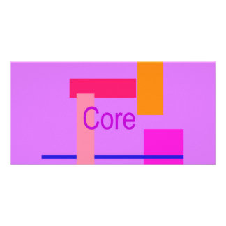 Core Lavender Magenta Custom Photo Card