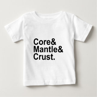 Core Mantle Crust | Internal Structure of Earth Baby T-Shirt