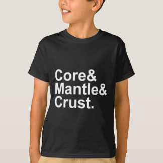 Core Mantle Crust | Internal Structure of Earth T-Shirt