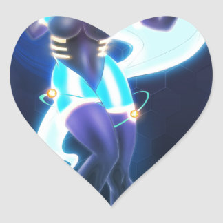 Core reactor heart sticker