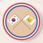 Corea cruzada y Chollanam-hace las banderas Posavaso Para Bebida