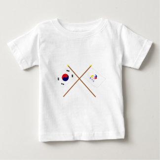 Corea cruzada y Kyonggi-hace las banderas T Shirt