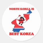 Corea del Norte es mejor Corea Pegatina