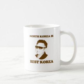 Corea del Norte es mejor Corea Taza Básica Blanca