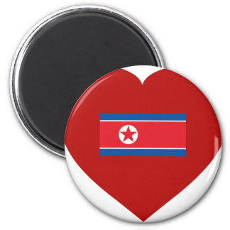 Corea del Norte Imán Redondo 5 Cm