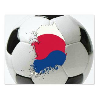 """Corea del Sur 2010 Invitación 4.25"""" X 5.5"""""""