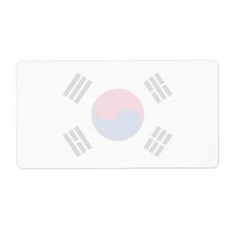 Corea del Sur - bandera surcoreana Etiquetas De Envío
