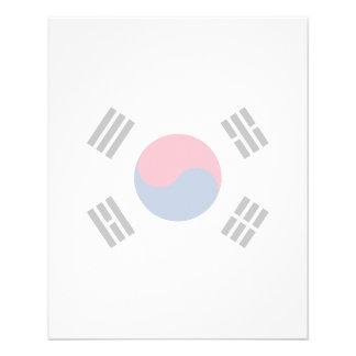 "Corea del Sur - bandera surcoreana Folleto 4.5"" X 5.6"""