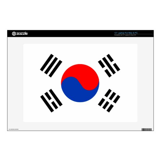 Corea del Sur Calcomanía Para 33cm Portátil