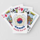 COREA DEL SUR - coreano/Asia/asiático/emblema/band Barajas De Cartas