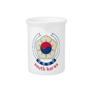 COREA DEL SUR - coreano/Asia/asiático/emblema/band Jarrón