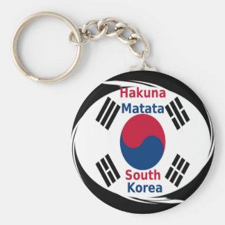 Corea del Sur de Hakuna Matata Llavero Redondo Tipo Chapa