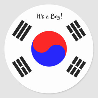 Corea del Sur de las etiquetas engomadas de la inv