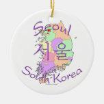 Corea del Sur de Seul Ornamento Para Arbol De Navidad