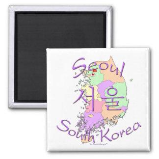 Corea del Sur de Seul Imán Cuadrado