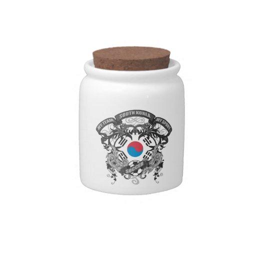 Corea del Sur del fútbol Jarras Para Caramelos