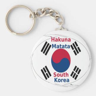 Corea del Sur Hakuna Matata Llavero Redondo Tipo Chapa