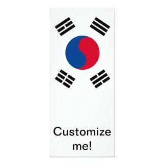 """Corea del Sur Invitación 4"""" X 9.25"""""""