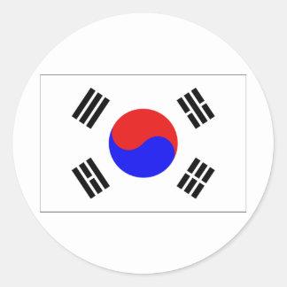 Corea del Sur Pegatina Redonda