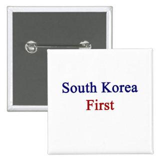 Corea del Sur primero Pin