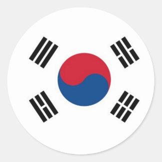 Corea del Sur redonda (no para el uso externo) Pegatina Redonda