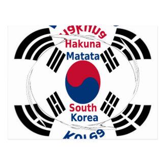 Corea del Sur Tarjeta Postal